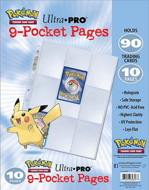 ULTRA PRO Pokemon - 9-Pocket Trading Card Page Pack