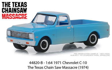 The Texas Chainsaw Massacre, 1971 Chevrolet C-10, 1:64 Diecast Vehicle