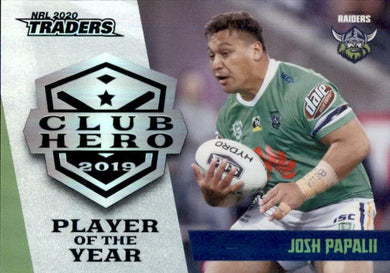 Josh Papalii, Club Hero, 2020 TLA Traders NRL