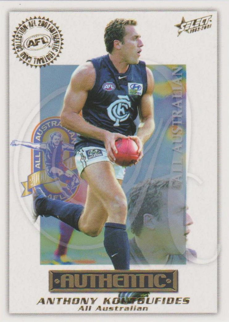 Anthony Koutoufides, All Australian, 2001 Select AFL Authentic