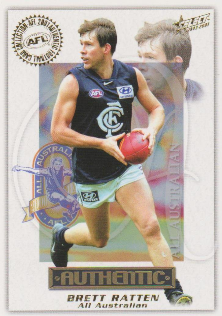 Brett Ratten, All Australian, 2001 Select AFL Authentic
