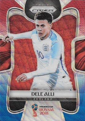 Dele Alli, Red & Blue Refractor, 2018 Panini Prizm World Cup Soccer