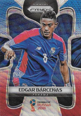 Edgar Barcenas, Blue & Red Refractor, 2018 Panini Prizm World Cup Soccer
