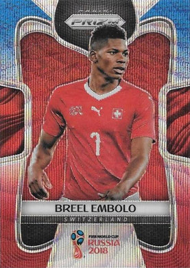 Breel Embolo, Blue & Red Refractor, 2018 Panini Prizm World Cup Soccer