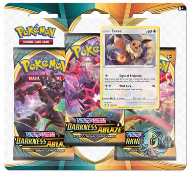 POKÉMON TCG Sword and Shield- Darkness Ablaze Three Booster Blister