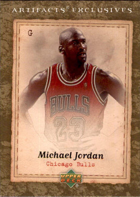 Michael Jordan, #224, 2007-08 UD Artifacts Exclusives Basketball NBA