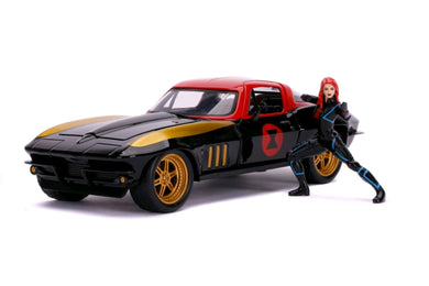 Avengers - '66 Chevy Corvette w/Black Widow 1:24 Scale Diecast Vehicle Hollywood Ride
