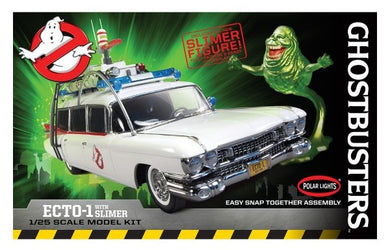 Ghostbusters ECTO-1 with Slimer Figure Snap Plastic Kit, 1:25 Scale Model Kit