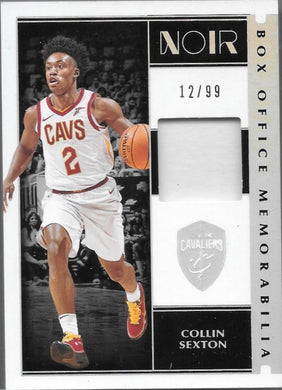 Collin Sexton, Box Office Memorabilia, 2019-20 Panini Noir Basketball NBA