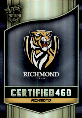 Richmond Tigers Logo Checklist, Certified 460, 2017 Select AFL Certified