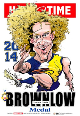 Matt Priddis, Brownlow Harv Time Poster