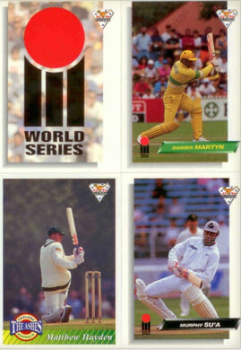 1993 Futera Cricket Base Set of 110 trading cards