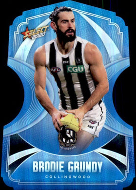 Brodie Grundy, Ice Blue Diecuts, 2020 Select AFL Footy Stars