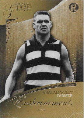 Graham Polly Farmer, Enshrinements, 2017 Regal Football Greats of the Game