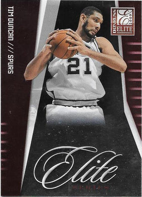 Tim Duncan, Red, 2009-10 Panini Donruss Elite Series Basketball NBA