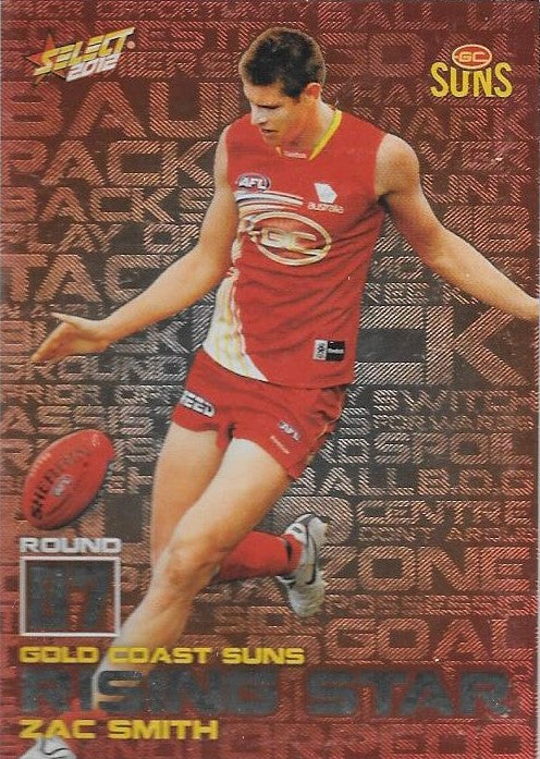 Zac Smith, Rising Star, 2012 Select AFL Champions