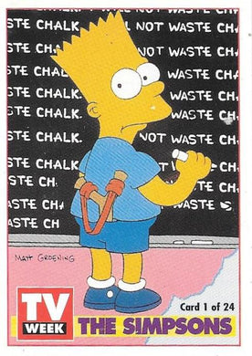 The Simpsons, TV Week card (NS)