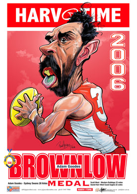 Adam Goodes, 2006 Brownlow, Harv Time Poster