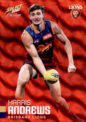 Harris Andrews, Red Parallel, 2020 Select AFL PRESTIGE Footy Stars