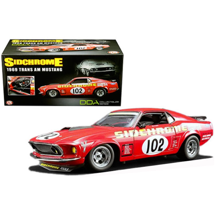 1969 Ford Mustang Boss 302 #102, Jim Richards Sidchrome Racing, 1:18 Diecast Vehicle