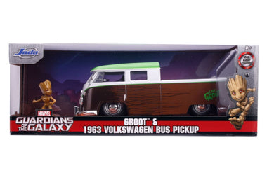 Guardians of the Galaxy: Vol. 2 - 1962 Volkswagon Bus with Groot 1:24 Scale Diecast Hollywood Ride