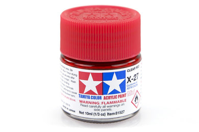 TAMIYA ACRYLIC MINI X-27 CLEAR RED 10ml