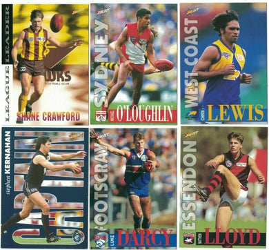 1996 Select AFL Series 2 Trading Card Base Set of 150 cards