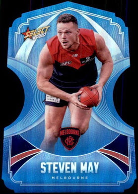 Steven May, Ice Blue Diecuts, 2020 Select AFL Footy Stars