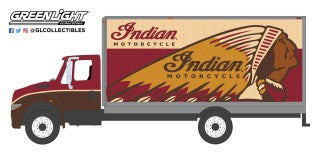 Indian Motorcycle 2013 International Durastar Box Van HD Trucks, 1:64 Diecast Vehicle