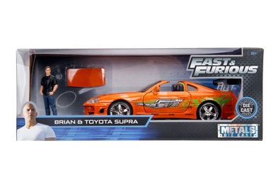 Fast and Furious - 1995 Toyota Supra with Brian Hollywood Ride, 1:24 Scale Diecast Vehicle