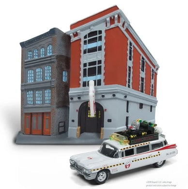 Johnny Lightning GHOSTBUSTERS Firehouse with ECTO 1A, 1:64 Scale Diecast Vehicle