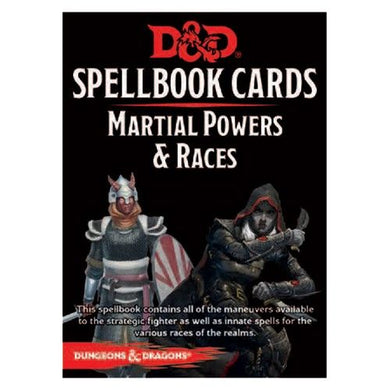 Dungeons & Dragons D&D Spellbook Cards Martial Powers & Races Deck (61 Cards) Revised 2017 Edition