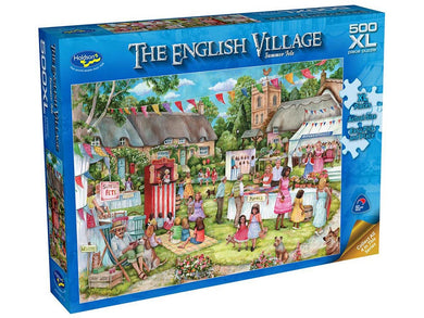 ENGLISH VILLAGE, Summer Fete, 500XL Piece Jigsaw Puzzle