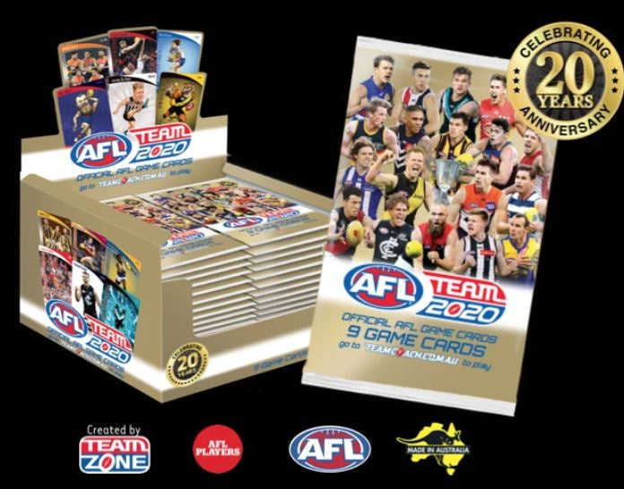 2020 Teamcoach AFL 36 pack box
