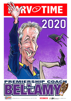 Craig Bellamy, 2020 Premiership Coach, Harv Time Poster