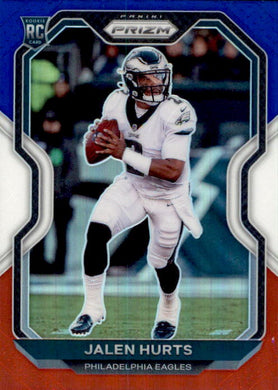 Jalen Hurts, RC, Red White Blue Prizm, 2020 Panini Prizm Football NFL