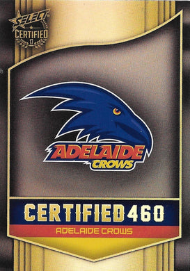 Adelaide Crows Logo Checklist, Certified 460, 2017 Select AFL Certified