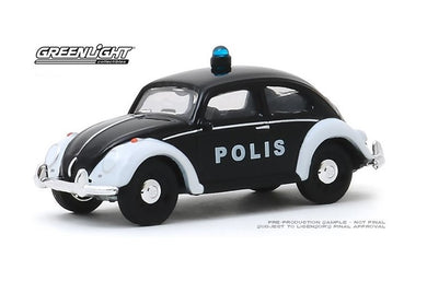 Classic Volkswagen Beetle Police, Club V-DUB, 1:64 Diecast Vehicle