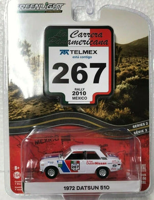 1972 Datsun 510 #267, La Carrera Panamericana, 1:64 Diecast Vehicle