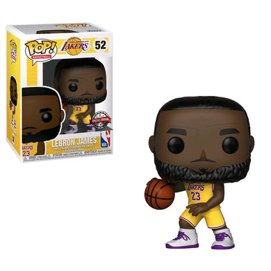 NBA: Lakers - LeBron James Yellow Uniform US Exclusive Pop! Vinyl