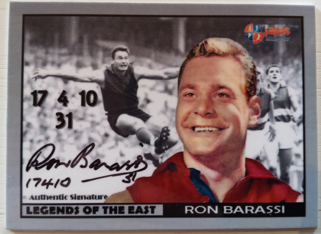 Ron Barassi, Legends of the East, Ja Ja's Collectables