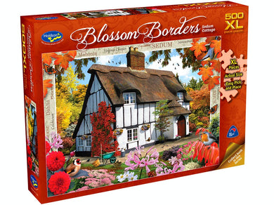 BLOSSOM BORDERS, Sedum Cottage, 500XL Piece Jigsaw Puzzle