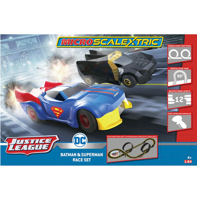 MICRO SCALEXTRIC JUSTICE LEAGUE (MAINS POWERED) - NEW TOOLING 2019