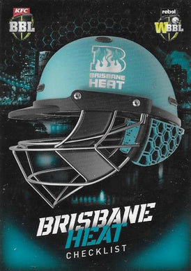 Brisbane Heat, Helmet Checklist, 2017-18 Tap'n'play CA BBL 07 Cricket