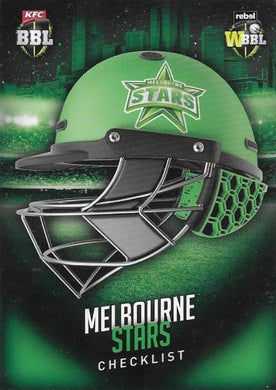 Melbourne Stars, Helmet Checklist, 2017-18 Tap'n'play CA BBL 07 Cricket
