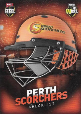 Perth Scorchers, Helmet Checklist, 2017-18 Tap'n'play CA BBL 07 Cricket