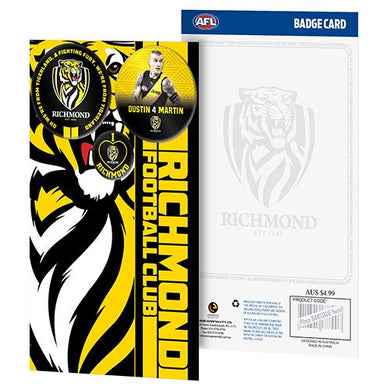 RICHMOND TIGERS 3 BADGE GREETING CARD