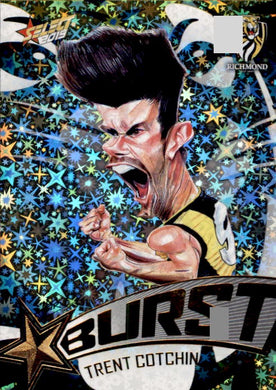 Trent Cotchin, Team Logo Starburst Caricatures, 2019 Select AFL Footy Stars