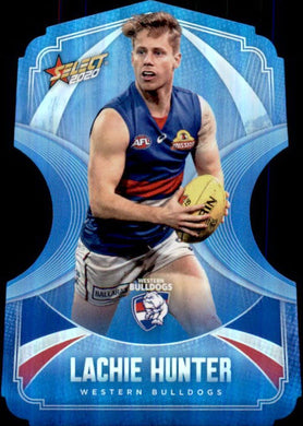 Lachie Hunter, Ice Blue Diecuts, 2020 Select AFL Footy Stars