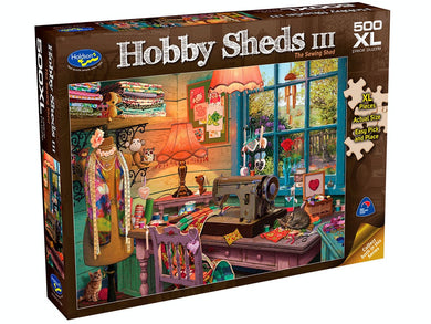 HOBBY SHEDS III, The Sewing Shed, 500XL Piece Jigsaw Puzzle